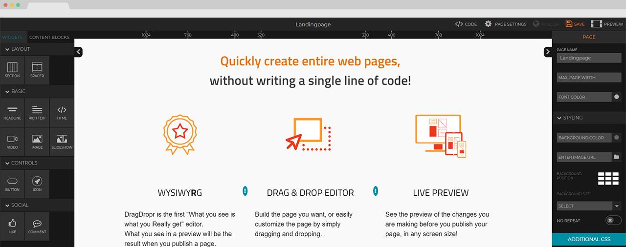 DragDropr | Page Builder | Drag & Drop Visual Content Builder